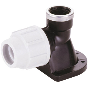 PLASSON WALL PLATE ELBOW 25MM-0