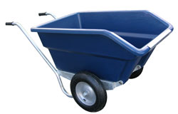 JFC TWIN WHEEL TIPPING BARROW BLUE 255L-0
