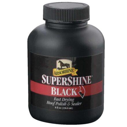 ABSORBINE SUPERSHINE HOOF POLISH BLACK 237ML-0