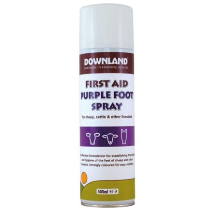 DOWNLAND FIRST AID PURPLE FOOT SPRAY 500ML-8530