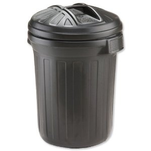 DUSTBIN BLACK 65L-0