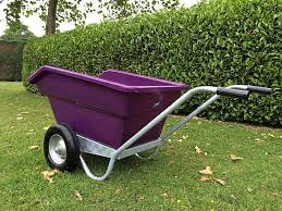 JFC TWIN WHEEL TIPPING BARROW PURPLE 255L-0