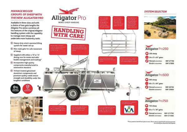 ALLIGATOR PRO 750 HANDLING SYSTEM ( ELECTRIC WINCH )-0